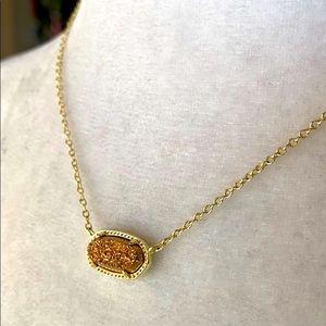 ❤️HP 2X ❤️Kendra Scott Rose Gold Druzy Necklace